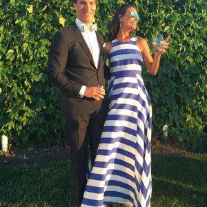 Stripe Maxi Gown